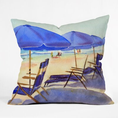 Beach Chairs by Laura Trevey Indoor/Outdoor Throw Pillow Size: 16 H x 16 W x 4 D