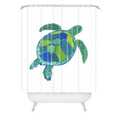 Sea Turtle by Laura Trevey Shower Curtain
