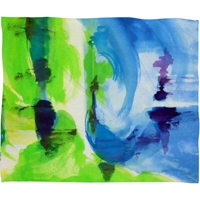Shot Of Lime Fleece by Laura Trevey Throw Blanket Size: Large