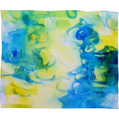 Be Inspired Fleece by Laura Trevey Throw Blanket Size: Large