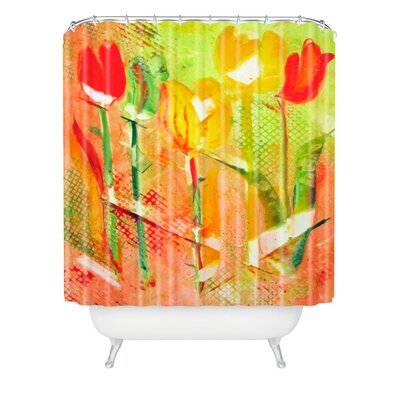 Citrus Tulips by Laura Trevey Shower Curtain