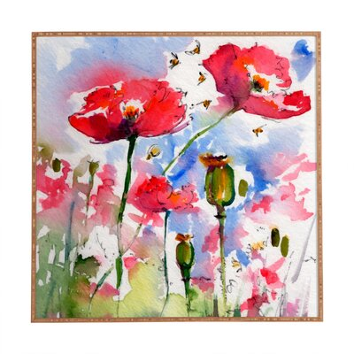 My Lovely Garden Framed Painting Print Size: 30 H x 30 W x 1 D
