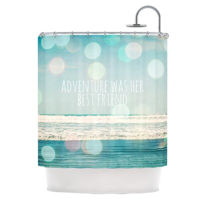 Adventure Was Her Best Friend Shower Curtain
