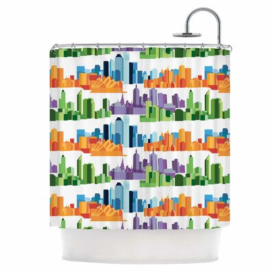 Australian Cities Shower Curtain
