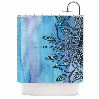Mandala Shower Curtain Color: Blue
