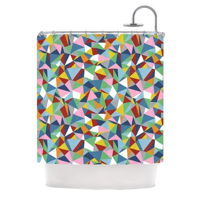 Abstraction Shower Curtain Color: Pink