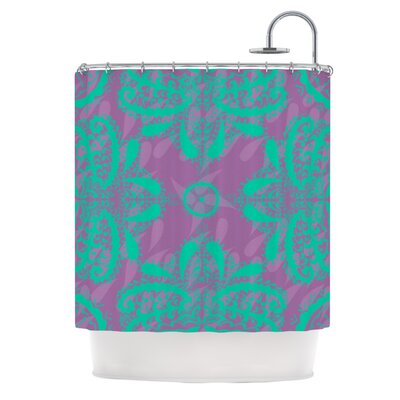 Motifs Shower Curtain Color: Peach