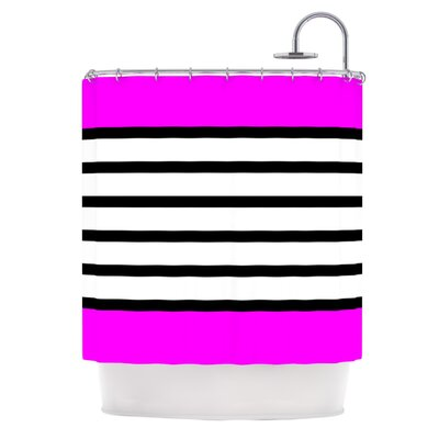 Sest Redaka Shower Curtain Color: Pink