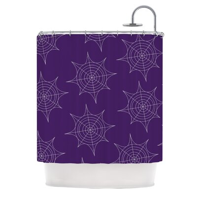 Spiderwebs Shower Curtain Color: Purple