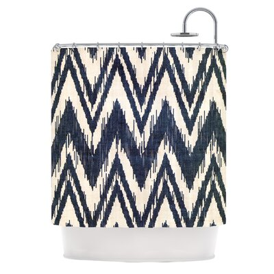 Tribal Chevron Shower Curtain Color: Aqua