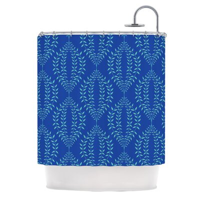 Laurel Leaf Shower Curtain Color: Orange