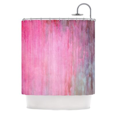 Color Wash Shower Curtain Color: Pink