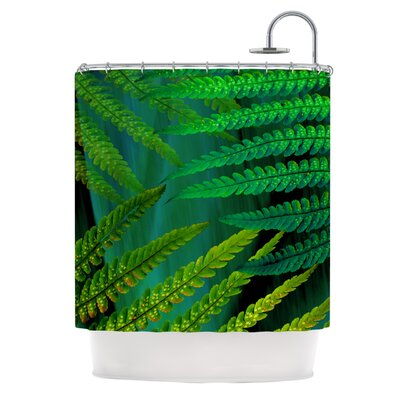 Forest Fern Shower Curtain Color: Green