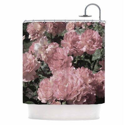 Blush Flowers Shower Curtain