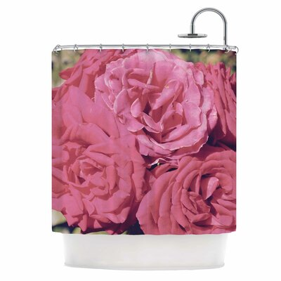 Blush Blooming Roses Shower Curtain