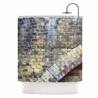 Grunge Brick Wall Shower Curtain