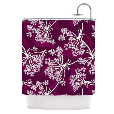 Squiggly Floral Shower Curtain