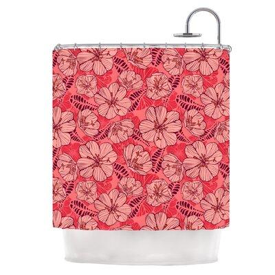 Flutter Floral Shower Curtain