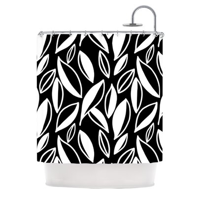 Leaving Shower Curtain Color: Black / White