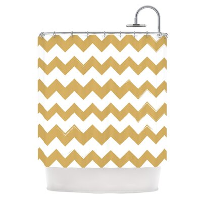 Candy Cane Shower Curtain Color: Gold