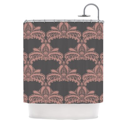 Decorative Motif Shower Curtain Color: Pink