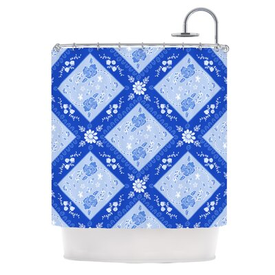 Diamonds Shower Curtain Color: Blue