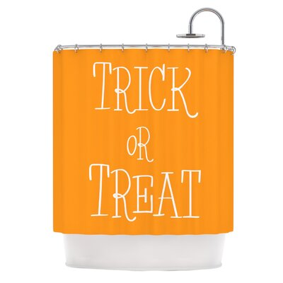 Trick or Treat�Shower Curtain Color: White