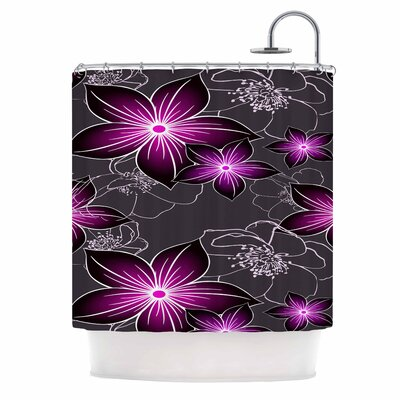 Alison Coxon Shower Curtain Color: Charcoal / Amethyst