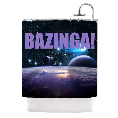 Bazinga Shower Curtain Color: Red