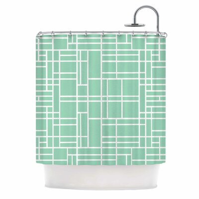 Map Outline Shower Curtain Color: Black