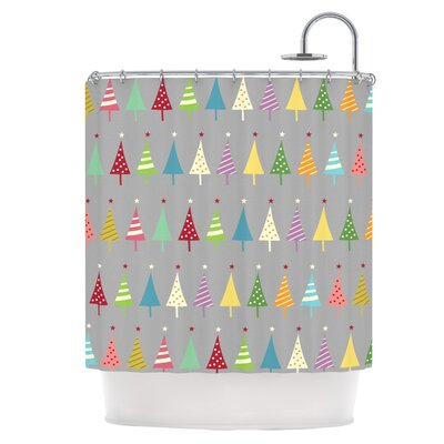 Crazy Trees Shower Curtain