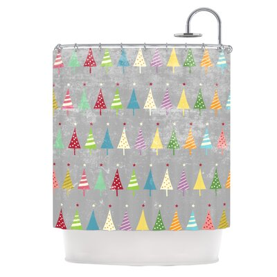 Crazy Trees Frost Shower Curtain
