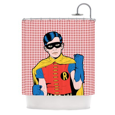 The Boy Wonder Pop Shower Curtain