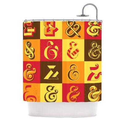 Ampersands Shower Curtain