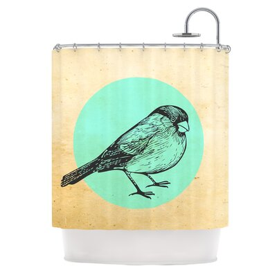 Old Paper Bird Shower Curtain