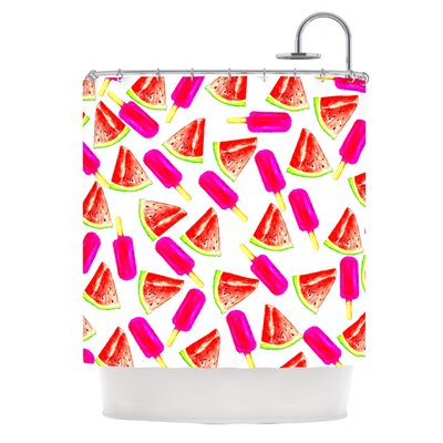 Strawberry and Watermelon Shower Curtain