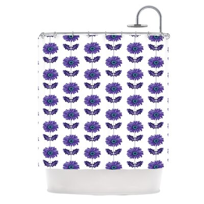 Gerbera Shower Curtain Color: Purple