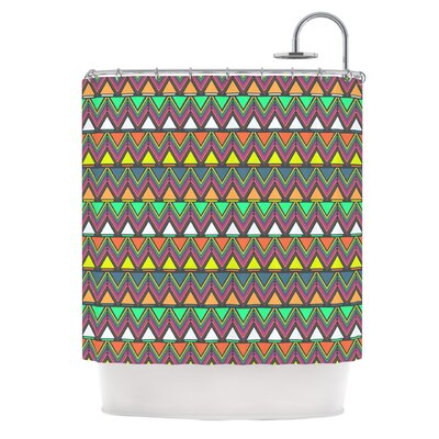 Shower Curtain Color: Multi / Rainbow