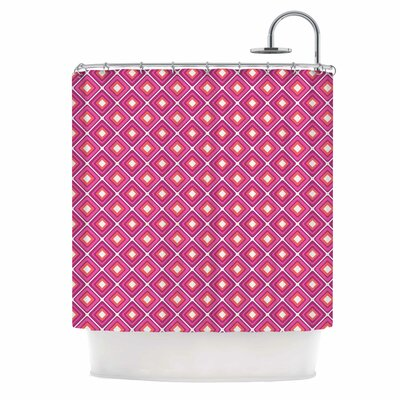 Bright Squares Shower Curtain Color: Pink