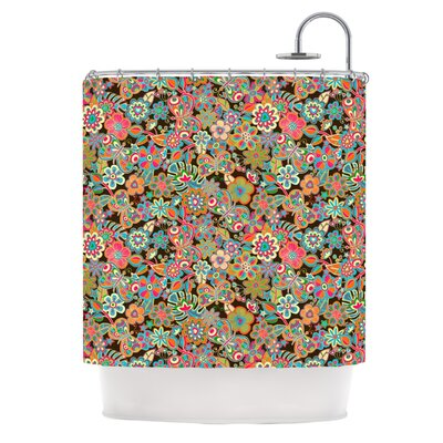 My Butterflies & Flowers Shower Curtain Color: Green