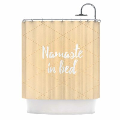 Namaste in Bed Shower Curtain Color: Yellow