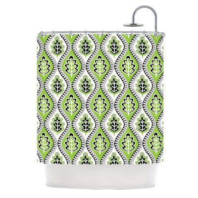 Oak Leaf Shower Curtain Color: Lime