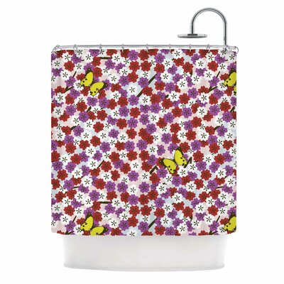 Cherry Blossom And Butterfly Shower Curtain