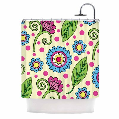 Polka Dot Garden Shower Curtain