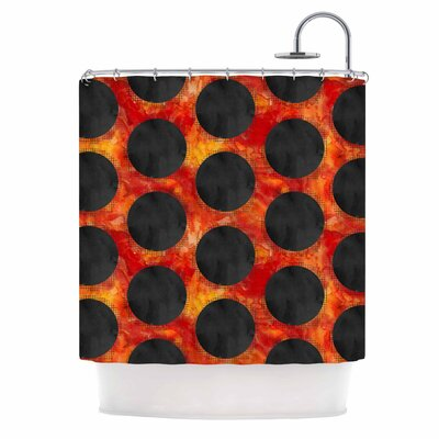 Volcanic Black Holes Shower Curtain