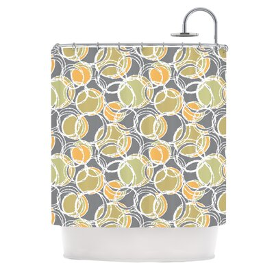 Simple Circles Shower Curtain Color: Gray