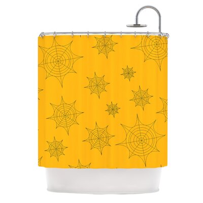 Webs�Shower Curtain Color: Orange