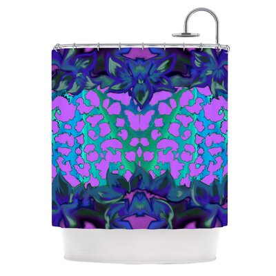 Shower Curtain Color: Blue / Orchid