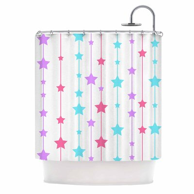 Stars Shower Curtain Color: Purple