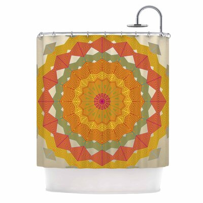 Composition Shower Curtain Color: Orange